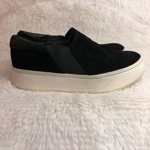 VINCE Warren Suede Skate Platform Sneakers Black